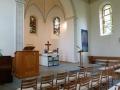 seitlicher Blick auf den Altar