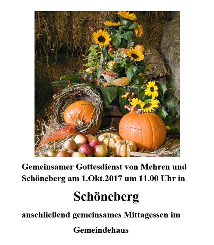 einladung zum erntedankfest | evangelische kirchengemeinden, Einladungen